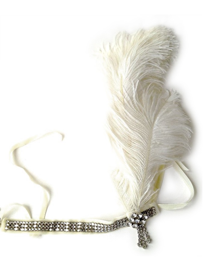 Ostrich Plume Headband
